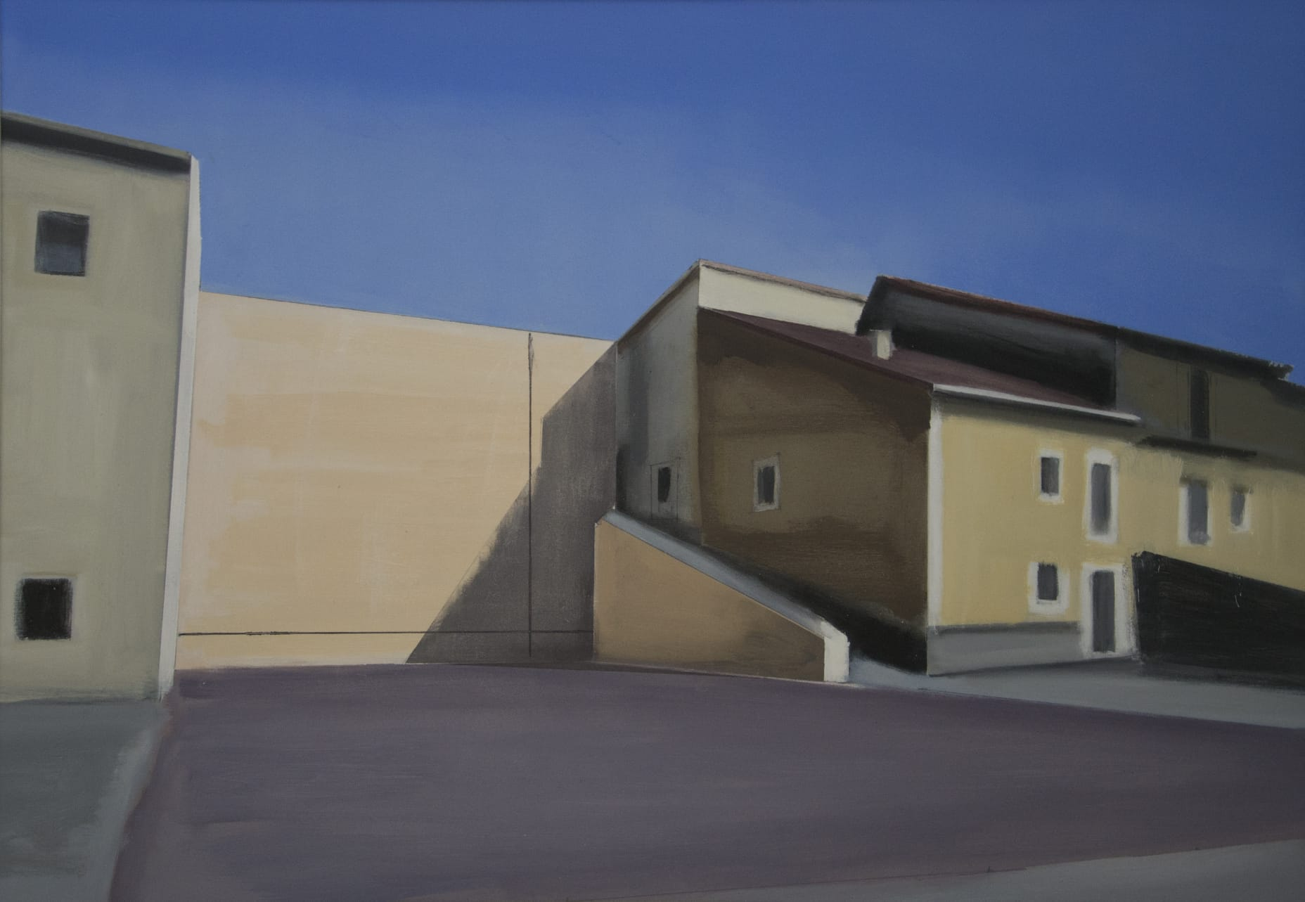 Frontón II. Óleo sobre lienzo. 70x120 cm.