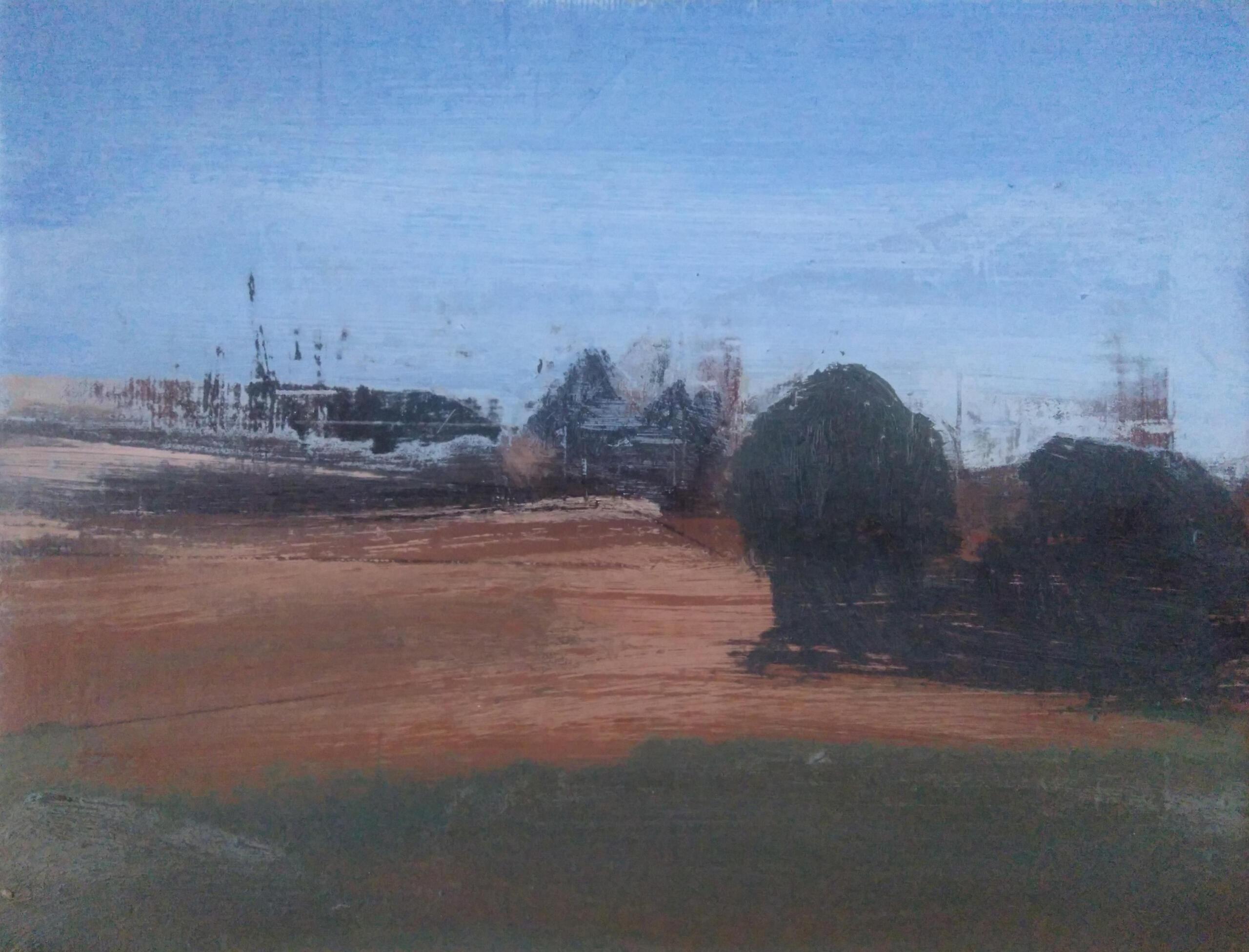 El Huerto del Torres I. Óleo sobre lienzo 24x19 cm.